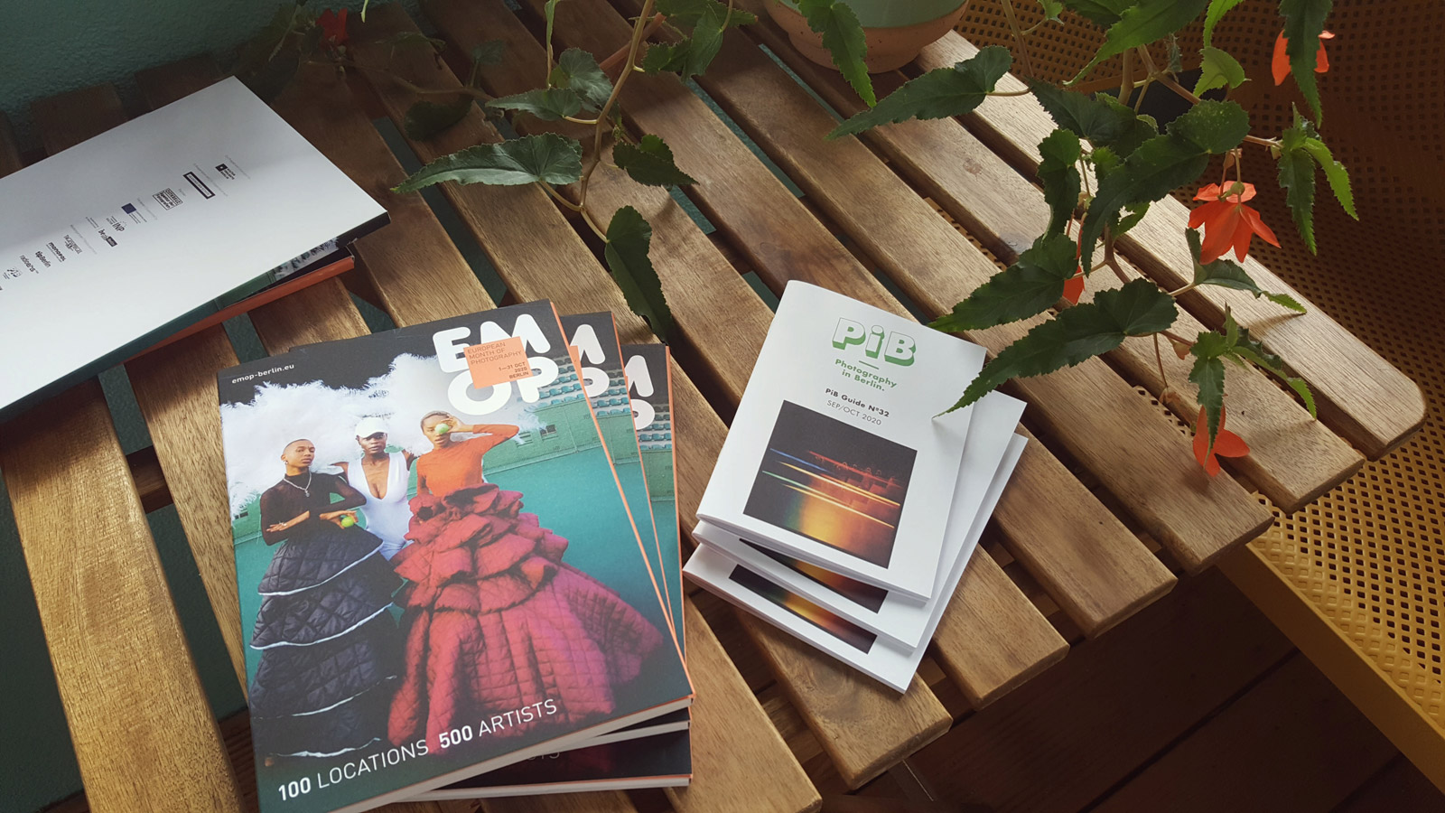 On the left: EMOP Berlin 2020 catalogue © Kulturprojekte Berlin   On the right: PiB Guide Nº32 SEP/OCT 2020 © PiB Photography in Berlin