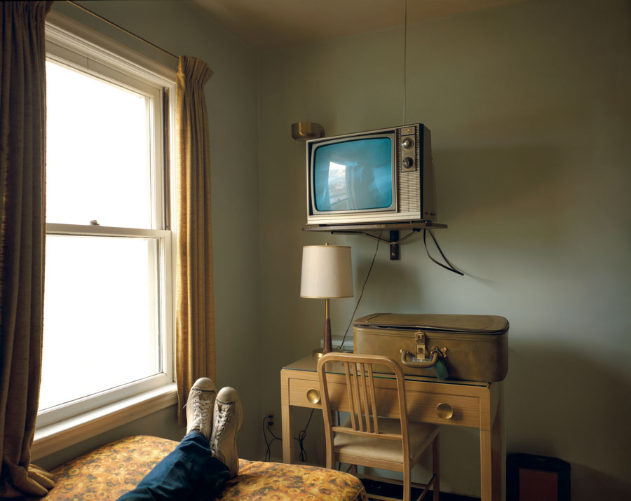 "Room 125, Westbank Motel, Idaho Falls, Idaho, July 18, 1973. From The Series ""Uncommon Places"" © Stephen Shore. Courtesy 303 Gallery, New York"