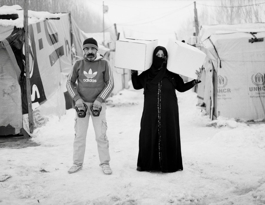 "© Omar Imam, From The Series Live, Love, Refugee. ""Now That We're In The Camp, She Brings Home The Food. Our Testicles Are In Danger."""