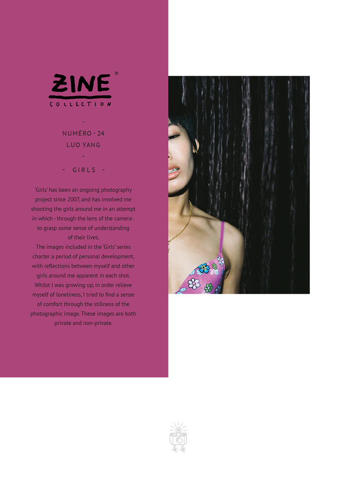 """Zine Collection No. 24 """"Girls"""" by Luo Yang, published in 2014 by Editions Bessard"""