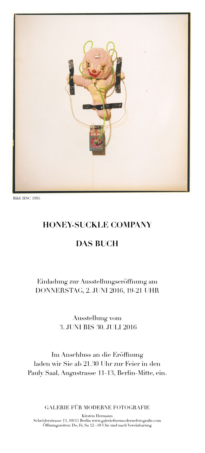 Galerie Für Moderne Fotografie | Honey-Suckle Company, Invitation