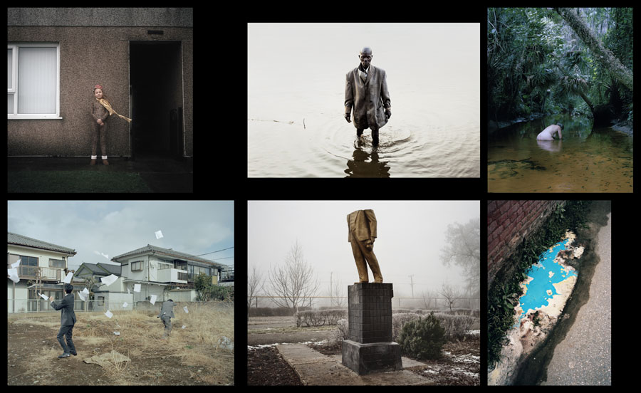 "Leica Oskar Barnack Award (@ Neue Schule Für Fotografie) | Clémentine Schneidermann (Frankreich):""The Unbearable, The Sadness And The Rest, © Clémentine Schneidermann, William Daniels (Frankreich): C.A.R., © William Daniels, Esther Teichmann (Deutschland): Mondschwimmen, © Esther Teichmann, Max Pinckers (Belgien): Two Kinds Of Memory And Memory Itself, © Max Pinckers, Guillaume Herbaut (Frankreich): Ukraine: Maidan To Donbass, © Guillaume Herbaut, Vincent Delbrouck (Belgien): New Paintings, © Vincent Delbrouck, (from Top Left To Right Bottom)"