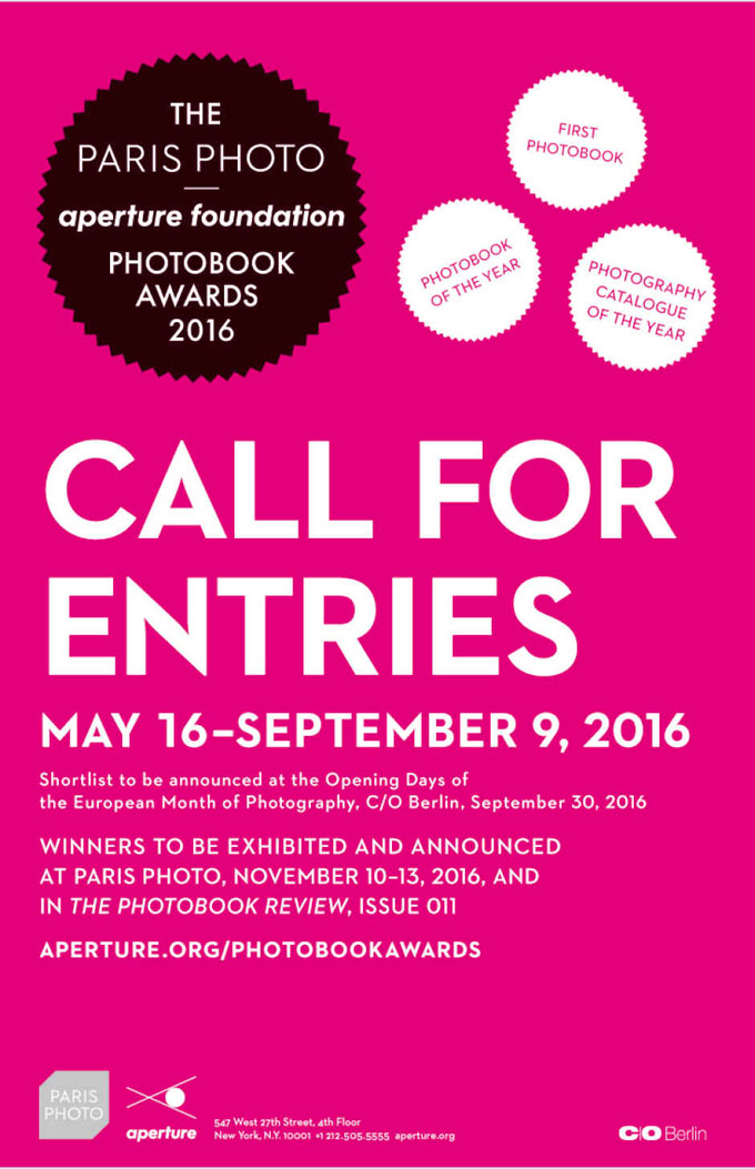 The Paris Photo–Aperture Foundation PhotoBook Awards 2016