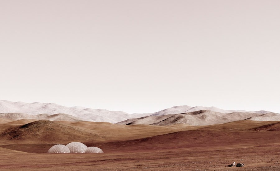 "Michael Najjar, ""sands Of Mars"", 2014, Hybrid Photography, Archival Pigment Print, Diasec, Custom-made Aluminium Frame, © Michael Najjar, Courtesy The Artist"