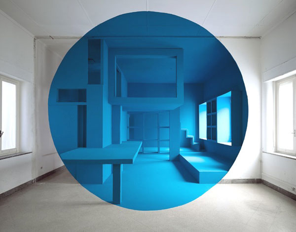 Georges Rousse, Palermo, 2000, C-print, Mounted On Aluminum, 125 X 160 Cm © Georges Rousse