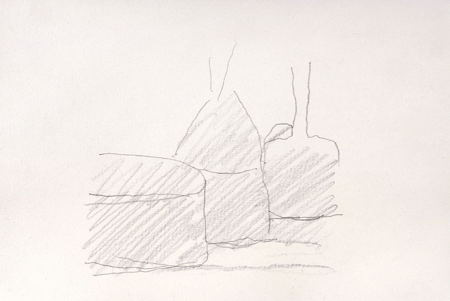 © Giorgio Morandi, Natura Morta, 1961, Pencil On Paper, 27,3 X 19,1 Cm