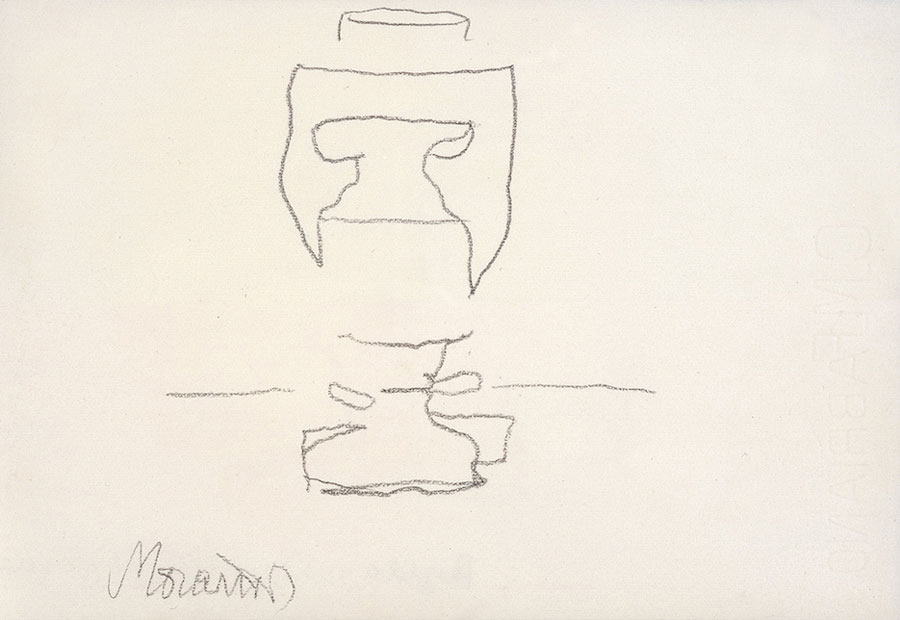 © Giorgio Morandi, Natura Morta, 1963, Pencil On Paper, 16,8 X 24,2 Cm