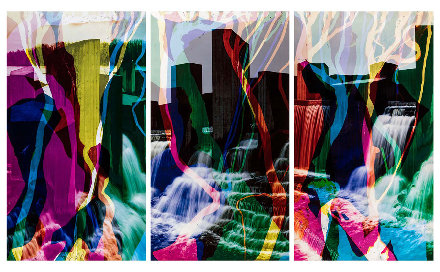 Matthew Brandt, Stepping Stone Falls, 2016 (Triptych) © Matthew Brandt . Courtesy Yossi Milo Gallery, New York