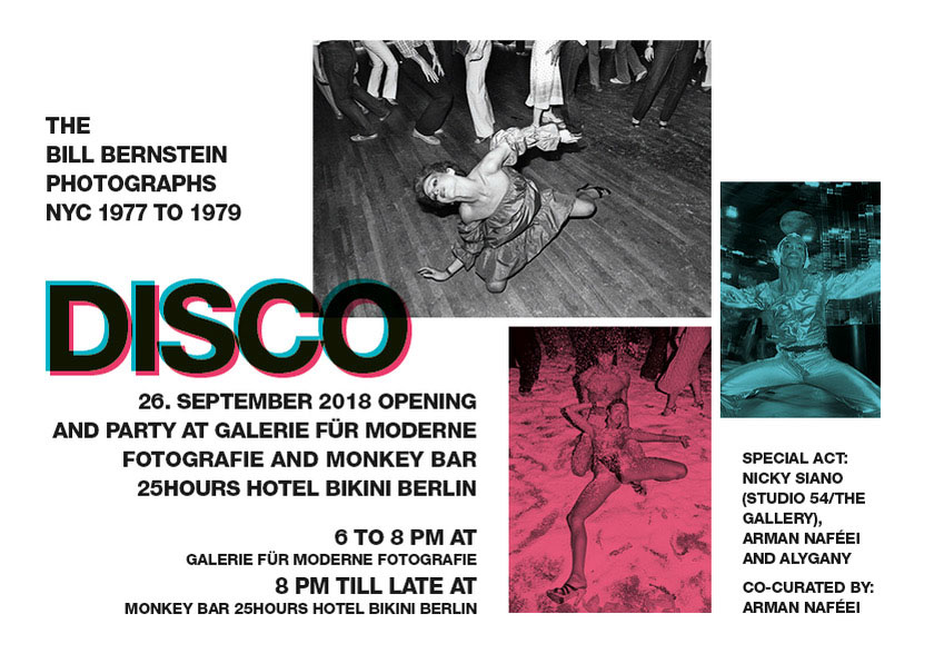 Galerie Für Moderne Fotografie | »DISCO« The Bill Bernstein Photographs – NYC 1977 To 1979