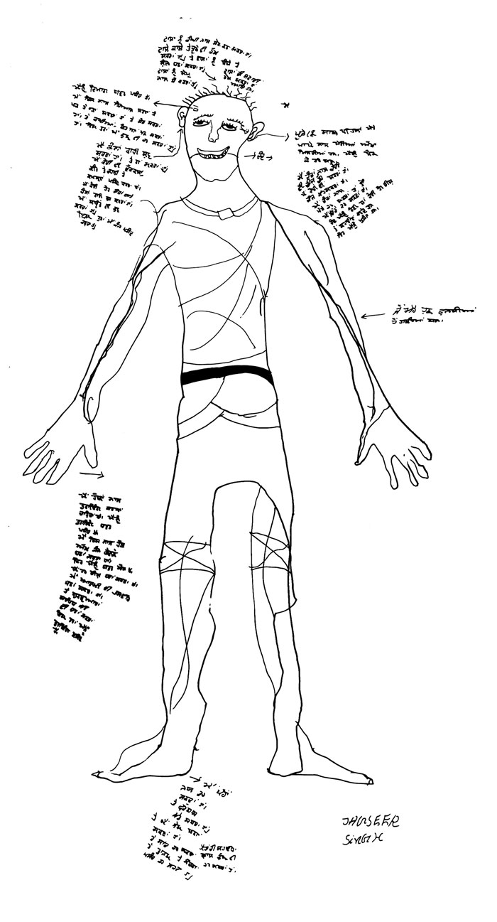 Body Map, Jagsir Singh, Age 11