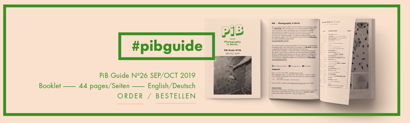 The PiB Guide Nº26 SEP/OCT 2019 © PiB – Photography In Berlin. #pibguide. COVER PHOTO: John Divola, Vandalism Series, 1973-1975, 64 X 61,5 Cm, Gelatin Silver Print, Ed. Of 5 + 2 APs © John Divola, Courtesy Robert Morat Galerie. Solo Exhibition »John Divola | Vandalism« At Robert Morat Galerie In Berlin-Mitte.