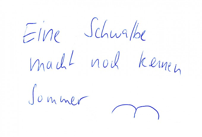 GlogauAIR Art Space |»One Swallow Does Not Make A Summer«